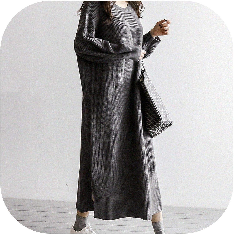 Plus Size Women Sweater Dress Korean Lazy Wind 2019 Autumn