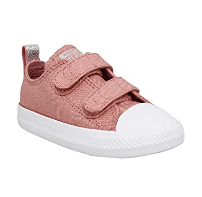 b11ce359471 Converse Chuck Taylor All Star 2V Fairy Dust Ox Rust Pink Textile 6 M US  Infant