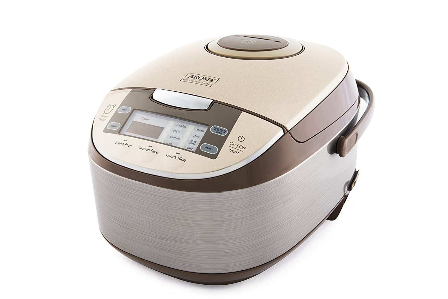 Aroma Housewares ARC-6106 Aroma Professional 6 Cups Uncooked Rice, Slow Cooker, Food Steamer, MultiCooker, 12, Silver