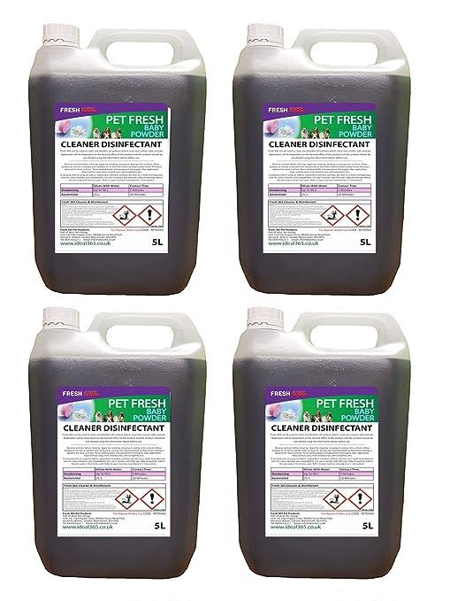 4de 5litros– desinfectante y desodorante para perreras, fragancia