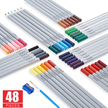 OOKU Set of 48 Watercolor Pencils