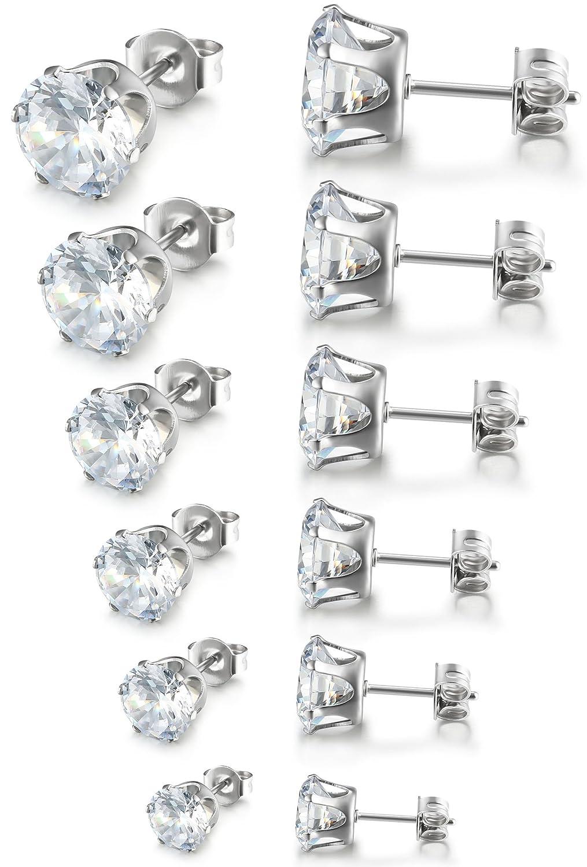 Cubic Zirconia Stud Earrings 6...