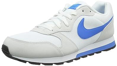 promo code 6b2e9 40b21 Nike Md Runner 2, Herren Gymnastikschuhe, Weiß (Weiß Blau Lagoon Cool