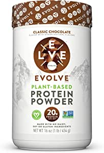 Evolve Protein Powder, Classic Chocolate, 20g Protein, 1 Pound