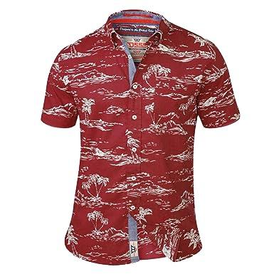 1fe70d8b6 Amazon.com: Duke D555 Mens Nestor King Size Big Tall Pure Cotton Hawaiian  Casual Shirt Red - 6XL: Clothing