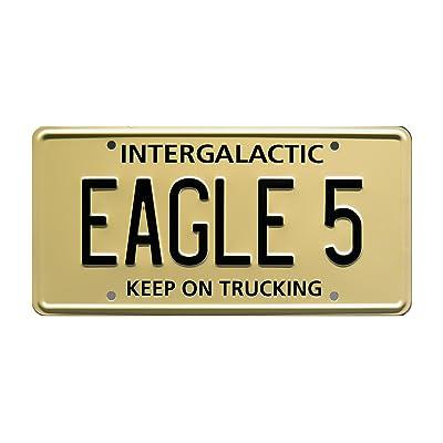 Celebrity Machines Spaceballs   Eagle 5   Metal Stamped License Plate: Automotive