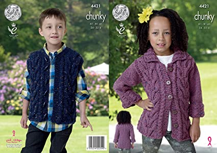 8dad32aa8d84 Image Unavailable. Image not available for. Colour  King Cole Kids Knitting  Pattern ...