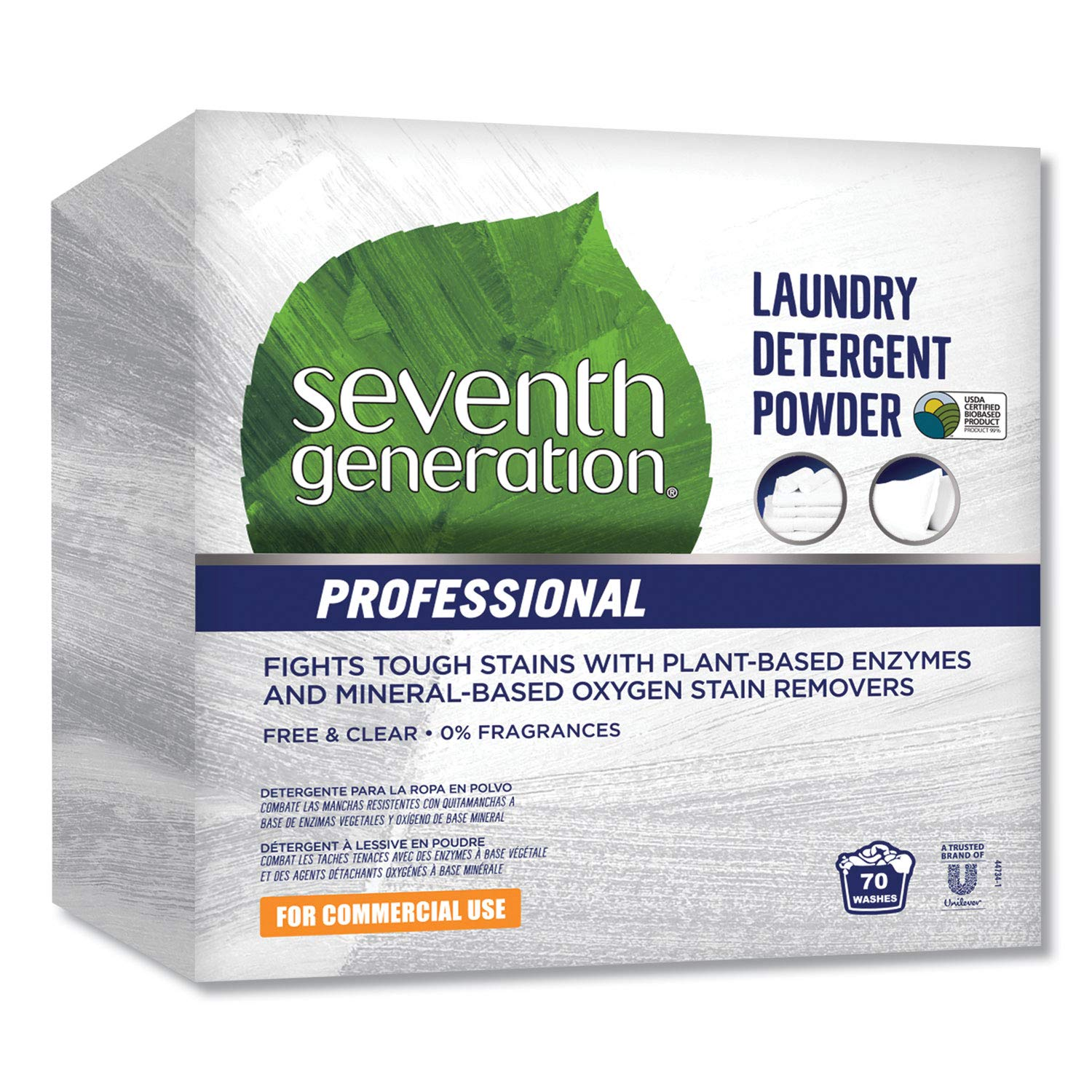 Seventh Generation 44734EA Professional Powder Laundry Detergent Free & Clear 112 oz Box by Seventh Generation Professional