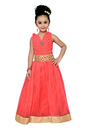 Amazon.com: ADIVA Girl\'s Indian Party Wear Gown for Kids: Clothing