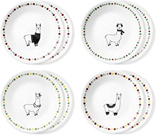 product image for Corelle Chip Resistant Appetizer Plates, 8-Piece, Fa La Llama