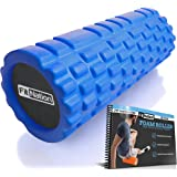 Fit Nation Foam Roller for Muscle Massage with Exercise Book, Ultra Strong Solid Core Muscle Roller for Deep Pain Relief in Your Aching Legs and Body. Ideal For Runner Cyclist Cross Fit Athlete