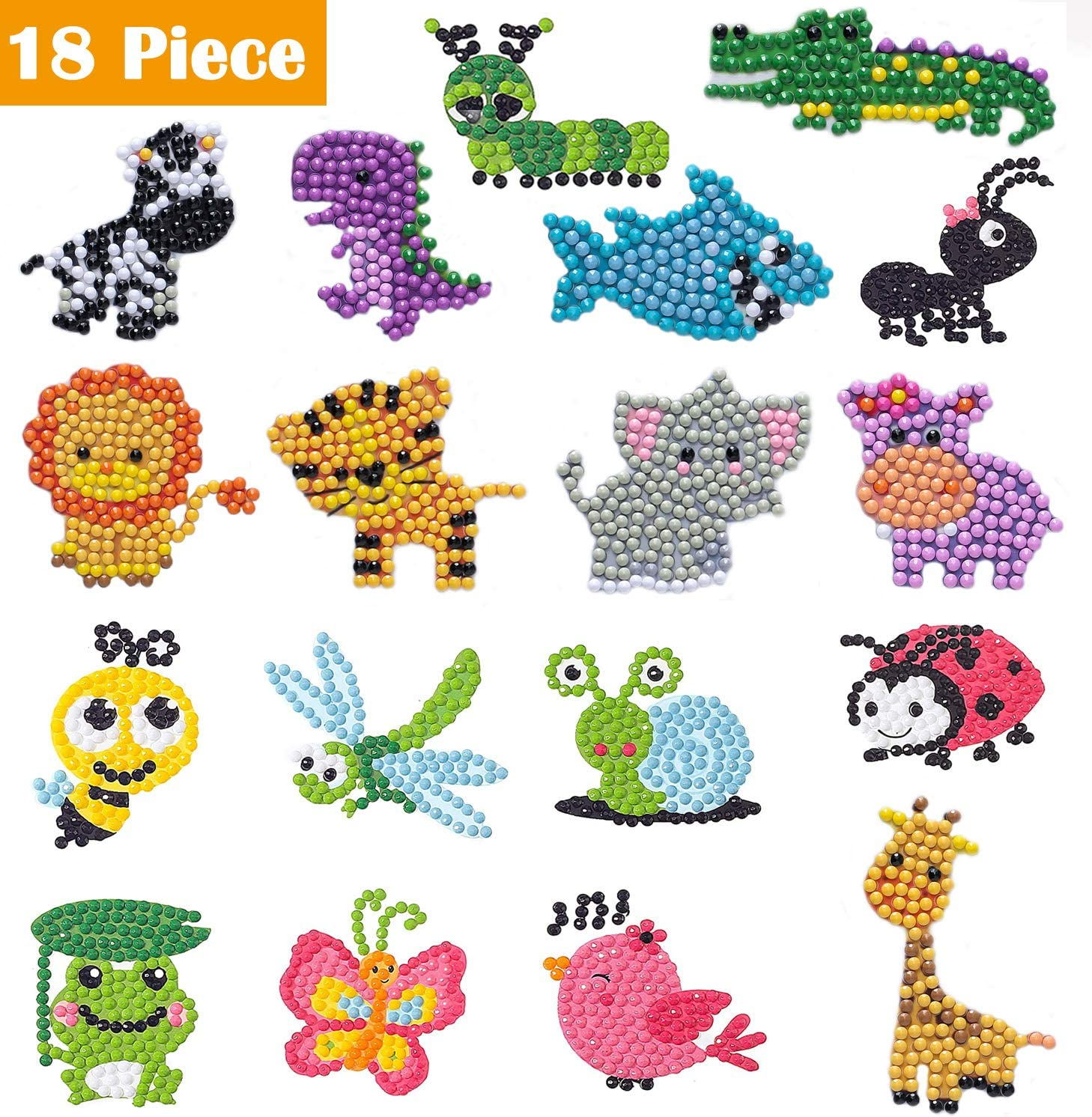 5D Diamond Art Painting Mosaic Stickers Kits for Kids Best Gift