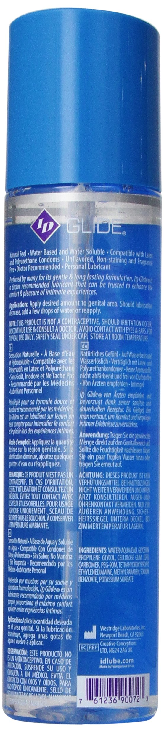 ID Glide Personal Water Based Lubricant, 17-Ounce Bottle by ID Lubricants (Image #3)
