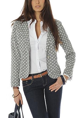 Bestyledberlin blazer pour femmes, veste ja42p àcarreaux L