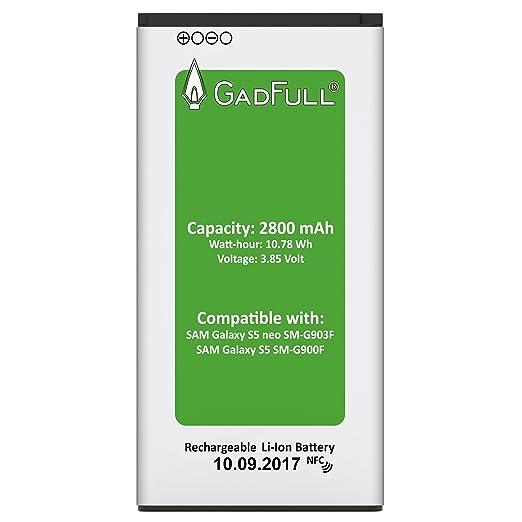 148 opinioni per GadFull® Batteria per Samsung Galaxy S5 | Corrisponde alla batteria a ioni al