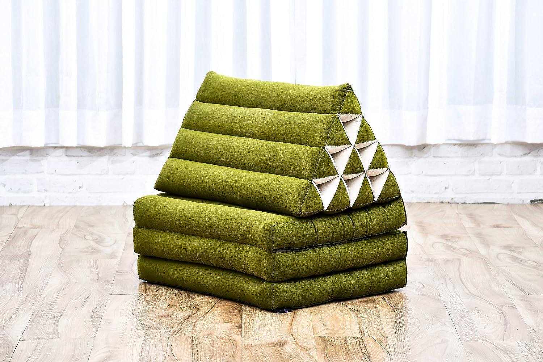 Kapok 75x50x40 cm Nero Leewadee Cuscino Triangolare Cuscino Lettura Schienale Letto Cuscino Televisione Materasso Tailandese Pieghevole Prodotto Naturale Ecologico