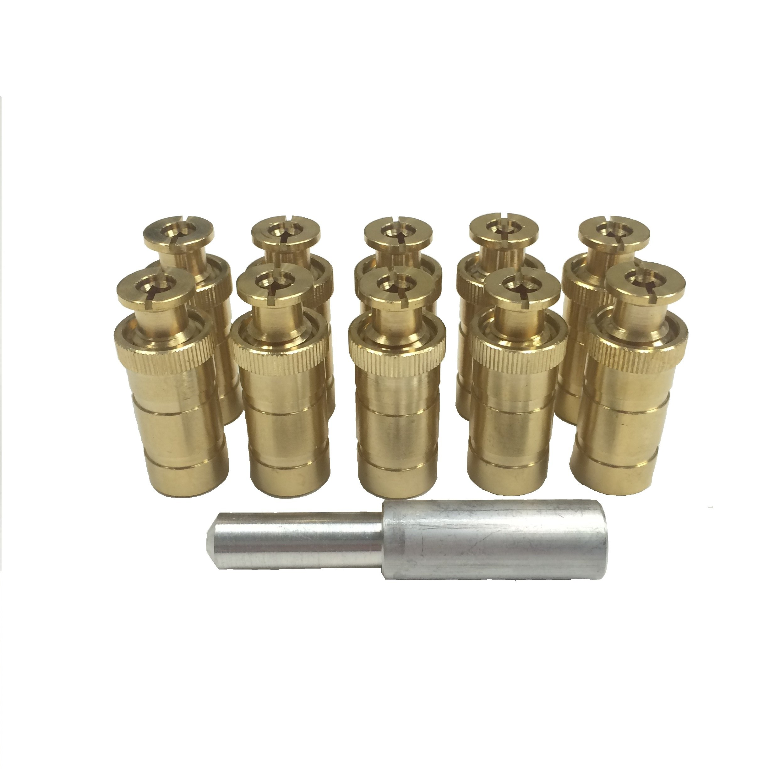 Pack of 10 Brass Anchors and Tamping Tool for Safety Covers