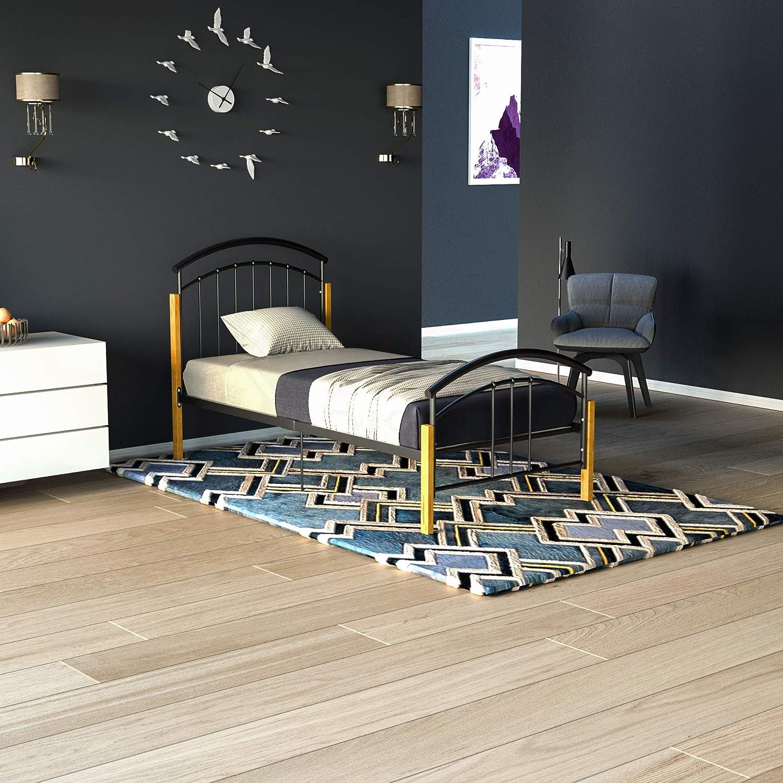 Vida Designs Venice Single Bed 3ft Bed Frame Metal Wood Solid Headboard Low Foot End Bedroom Furniture Black Amazon Co Uk Kitchen Home