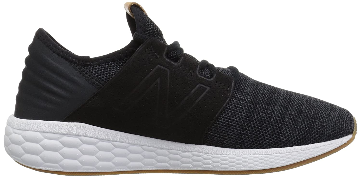 New Balance Women's Cruz V2 Fresh Foam Running Shoe B075R7RC4L 9 D US|Black/White