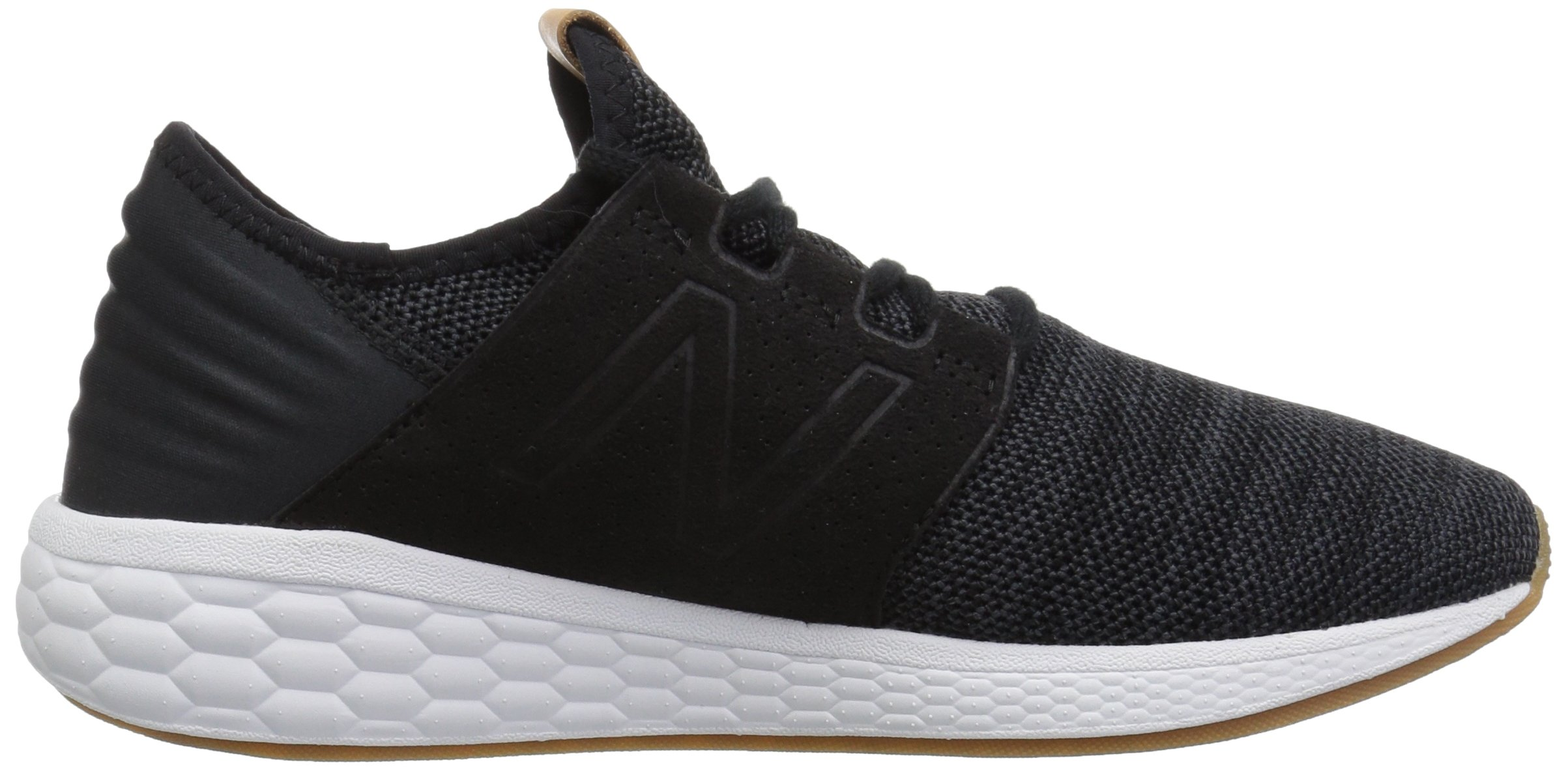 New Balance Women's Cruz V2 Fresh Foam Running Shoe, Black/White, 5 B US