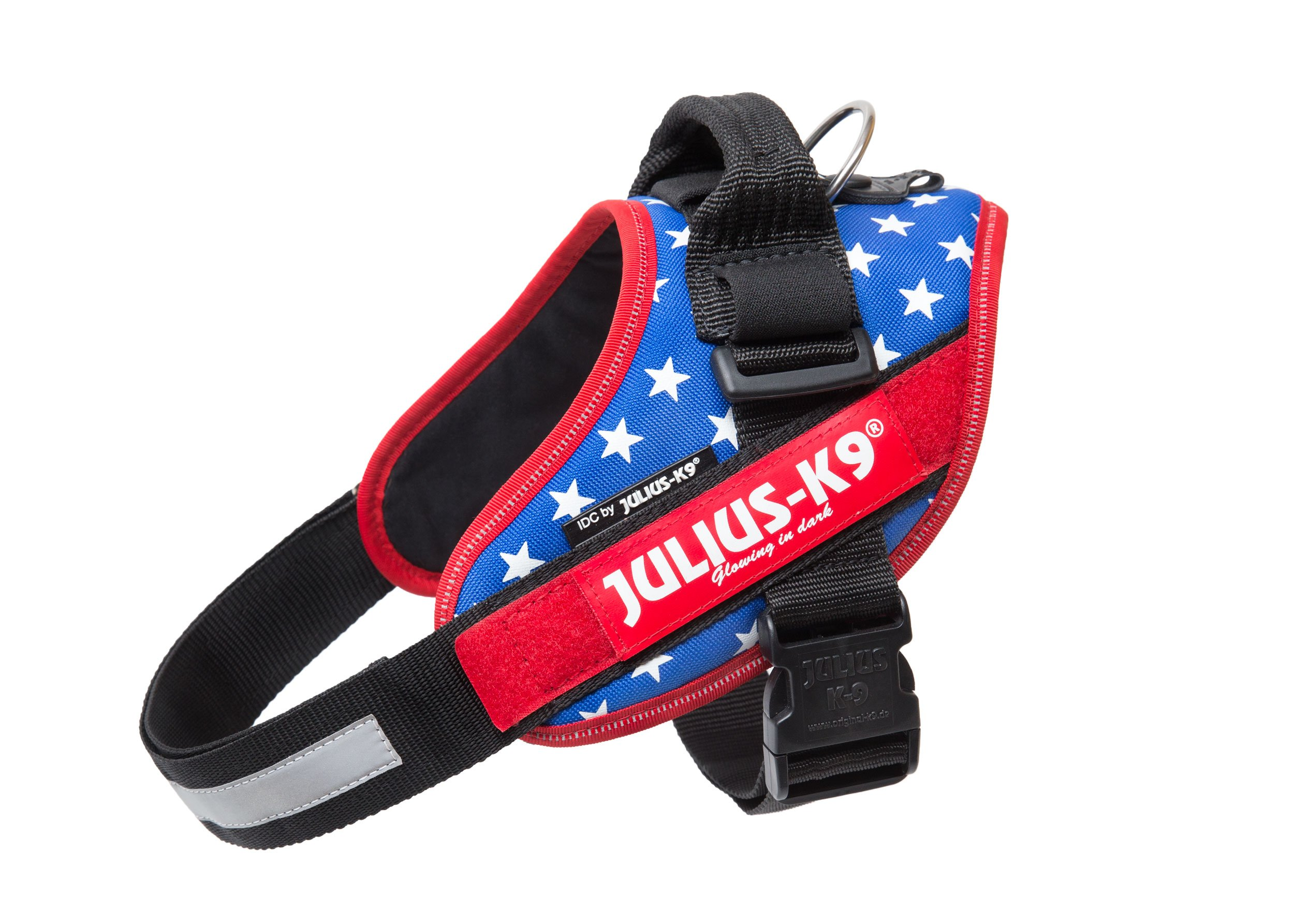 Julius-K9 IDC-Power Harness with Illuminated Velcro Patches, Ameri-Canis, Size: 0/58-76 cm/23-30''