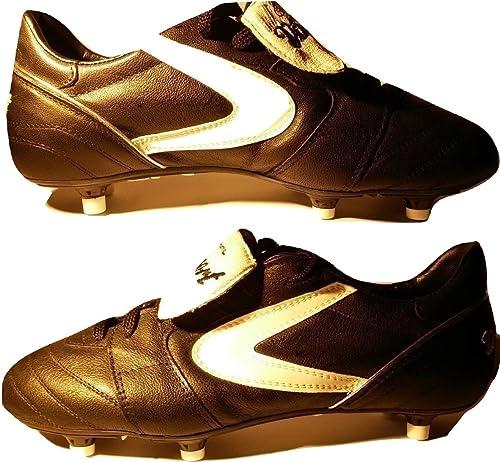32b3995fc VALSPORT Scarpe da Calcio Uomo Nere Black Star Pro Marco Simone Vintage da  Collezione Personalizzate con