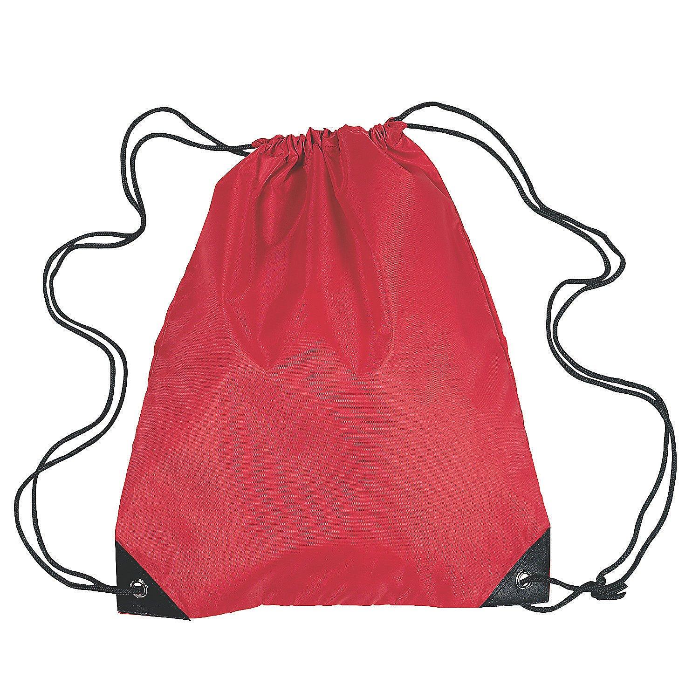 Red Medium Drawstring Backpacks