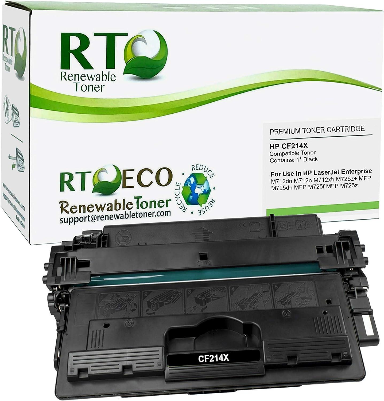 Renewable Toner Compatible High Yield Toner Cartridge Replacement for HP 14X CF214X Laserjet Enterprise MFP M712 M725 Printers