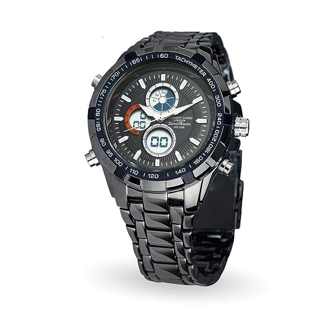 Flash venta Anthony James reloj de pulsera con 3 funciones analógico/digital pantalla, cronómetro