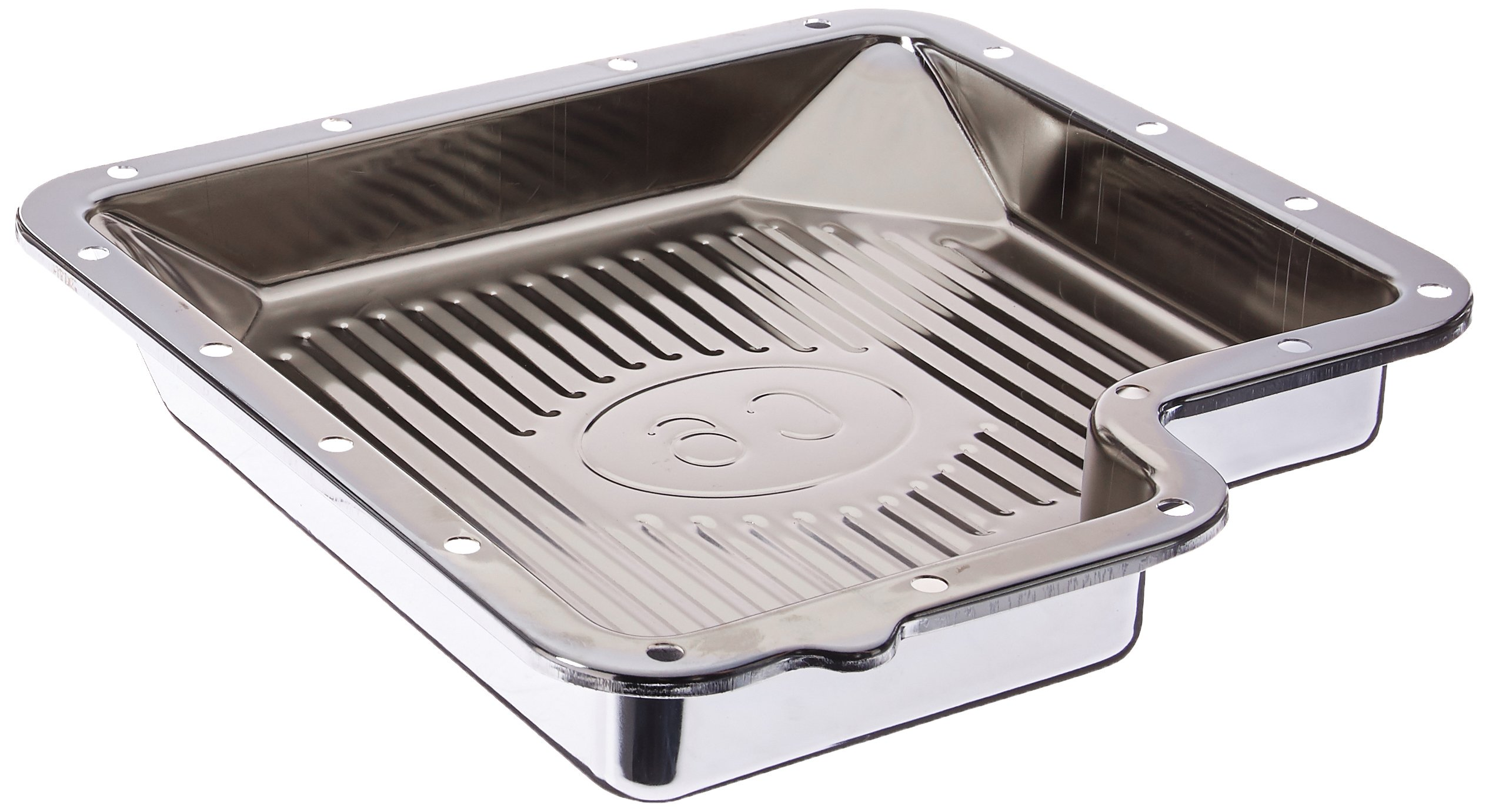 Trans-Dapt 9125 Chrome Finned Transmission Pan by Trans-Dapt Performance