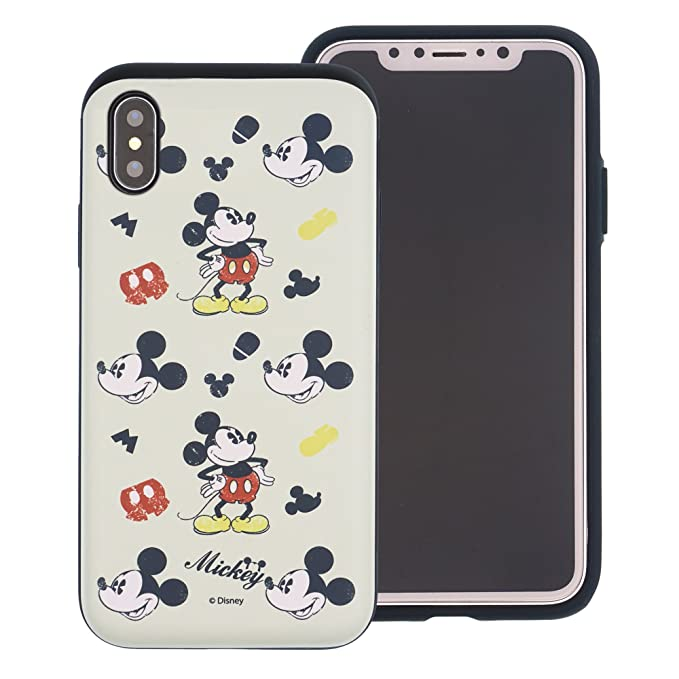 online store f248e e9026 iPhone X Case [Heavy Drop Protection] DISNEY Cute Mickey Mouse Layered  Hybrid [TPU + PC] Bumper Cover [Shock Absorption] for Apple iPhone X -  Vintage ...