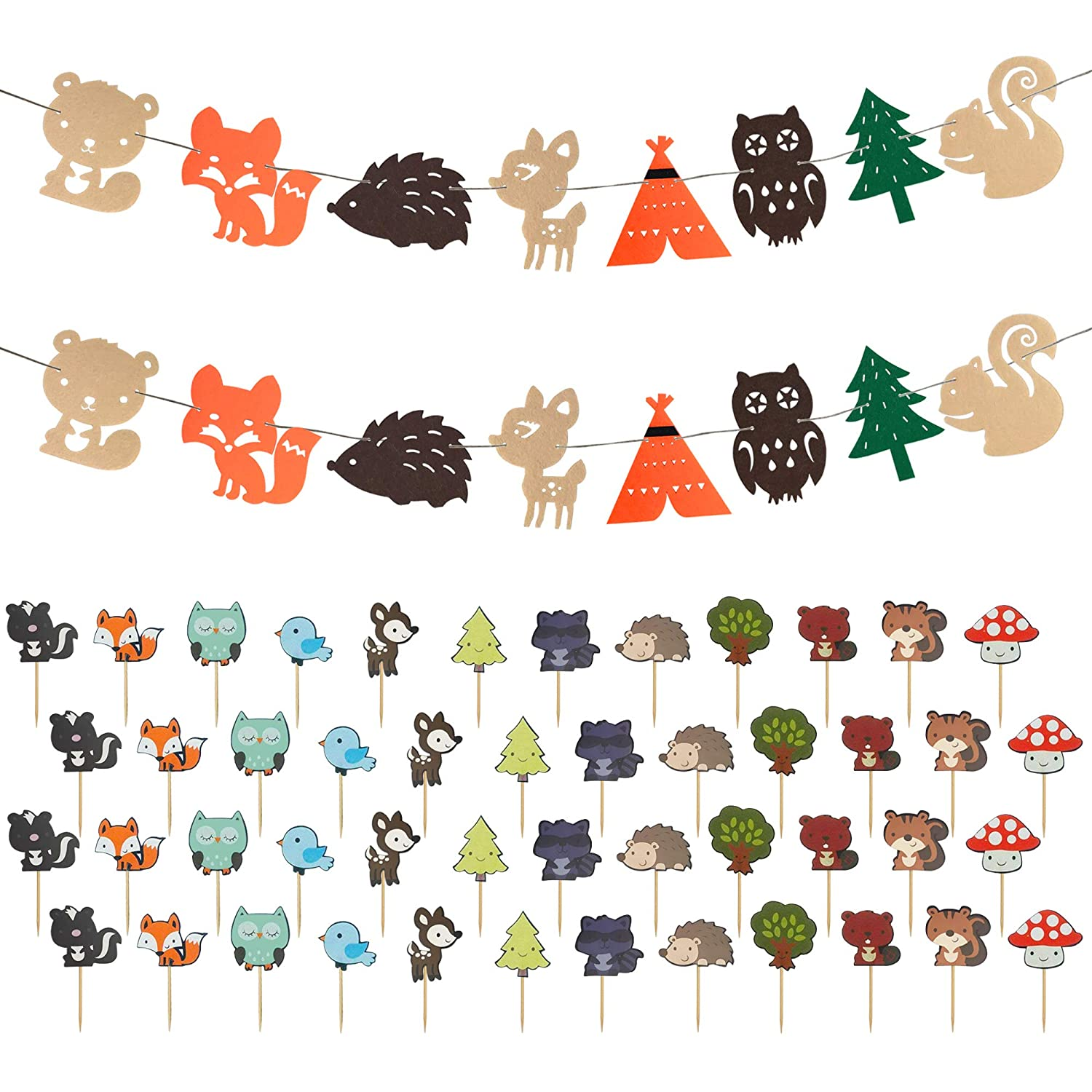 Picture of different animals in the forest