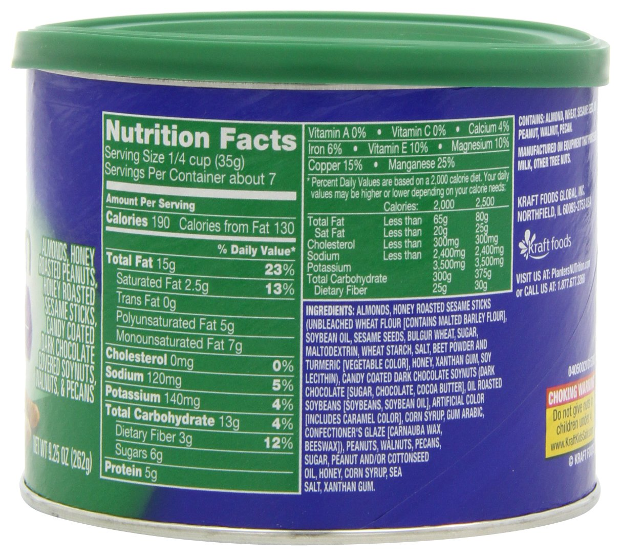 Planters trail mix nutrition facts on