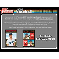$99 » 2020 Topps Heritage Baseball Factory Sealed 24 Pack Hobby Box - Fanatics Authentic Certified - Baseball Complete Sets