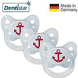 Dentistar® Schnuller 3er Set - Nuckel Silikon in Größe 2, 6-14 Monate - zahnfreundlich & kiefergerecht - Beruhigungssauger für Babys | Standard Edition