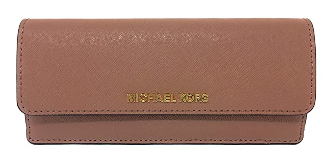 a19acbcc7143e4 Michael Kors Jet Set Travel Saffiano Leather Slim Flat Wallet in Dusty  Rose: Amazon.co.uk: Clothing