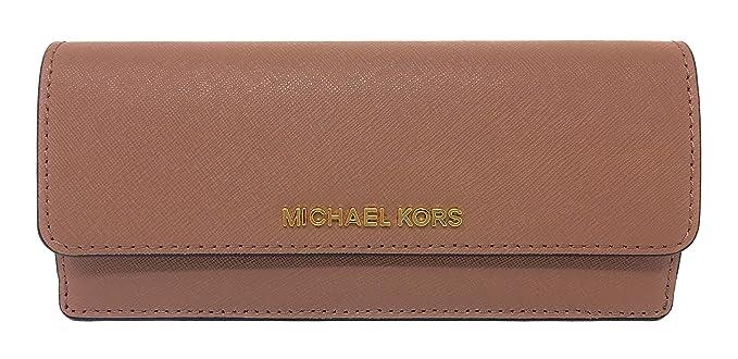 3c5da3e4efcd Michael Kors Jet Set Travel Saffiano Leather Slim Flat Wallet in Dusty Rose:  Amazon.co.uk: Clothing
