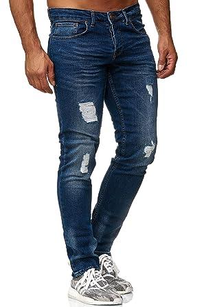 d3f79db896947 Tazzio Slim Fit Herren Destroyed Look Stretch Jeans Hose Denim 16525
