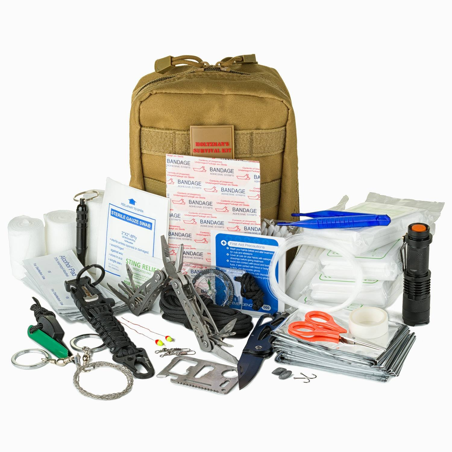 Emergency Survival Kit   Ultimate 98-in-1 Outdoor Multi-Tools for Camping, Hiking, Hunting & Fishing   First Aid Supplies   All Inclusive Survival Gear with Molle for Campers & Preppers