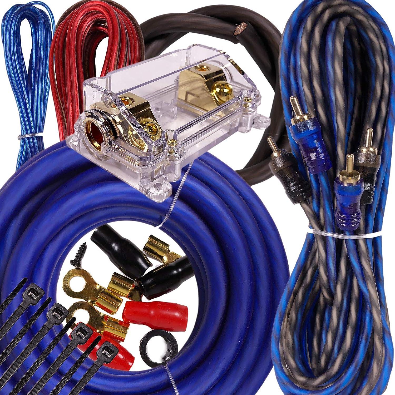 Complete 4000w 0 Gauge Car Amplifier Installation Wiring