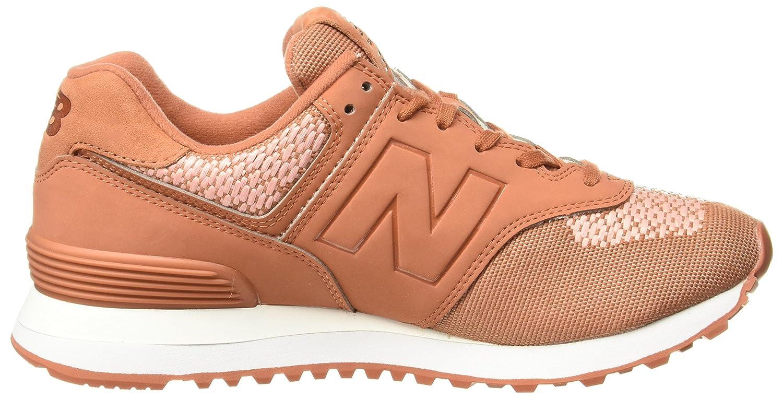 New Balance WL574FAD Petite Sneakers Femme Brique 37½ 3A44h7KZD