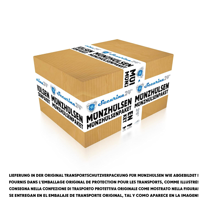 Securina24/® Tubi portamonete da 1 centesimo fino a 2 Euro o 119 pezzi misti Involucri per monete tubi portamonete 10 centesimo