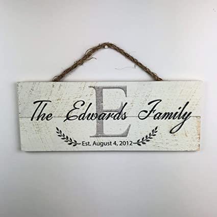 Artblox Personalized Wall Decor Wood Last Name Sign Monogrammed Initials Family Rustic Home Customized