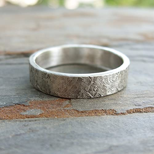 hammered silver ring,silver rings for women,handmade jewellery,wedding band,nature inspired,handmade ring, Silver hammered ring