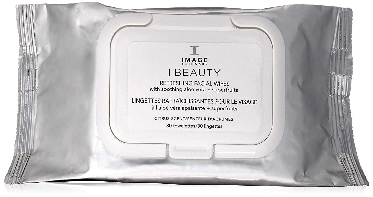 Image Skincare Beauty Refreshing Facial Wipes, 30 Count: Premium Beauty