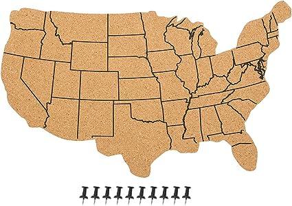 Estados Unidos mapa de corcho tablón de anuncios – Colgante de ...