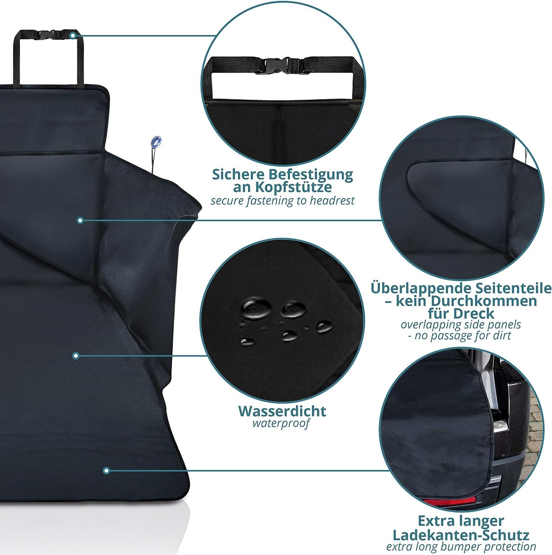 Furein Kit Rideau Pare-Soleil Enroulable Universel pour Voiture avec ventouses de Fixation Noir 68x125cm
