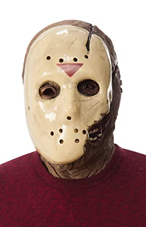 Rubieu0027s Friday The 13th Part 7 New Blood Jason Voorhees Deluxe Overhead Mask Gray  sc 1 st  Amazon.com & Amazon.com: Rubieu0027s Friday The 13th Part 7 New Blood Jason Voorhees ...