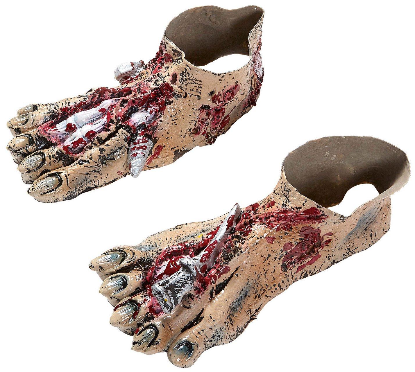 Widmann?Paire de pieds Zombie en Latex unisex-adult, Rose, Taille unique, vd-wdm96591