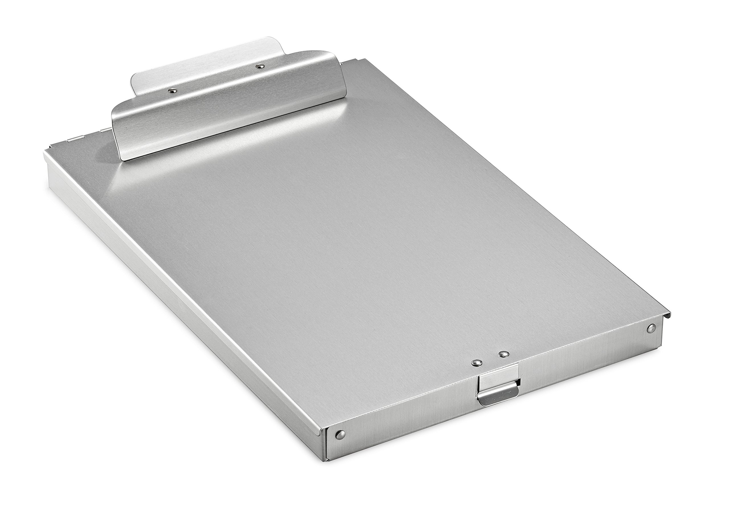 AdirOffice Aluminum Form Storage Clipboards - 9.25'' x 14'' - Spring-Loaded Tooth Clamp - Lightweight - Heavy Duty (1'' Height)